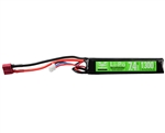 Valken 7.4v 1300mAh 20C 2 Saddle LiPo Airsoft Battery - (Female Dean) (78686)