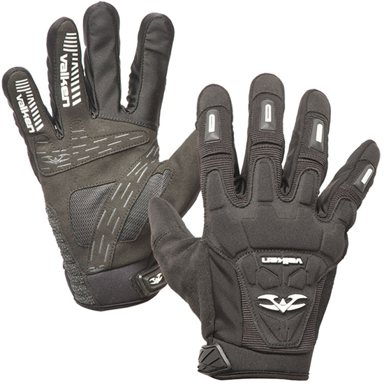 Valken Tactical Impact Full Finger Airsoft Gloves - Black