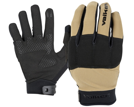Valken Tactical Kilo Full Finger Airsoft Gloves - Tan
