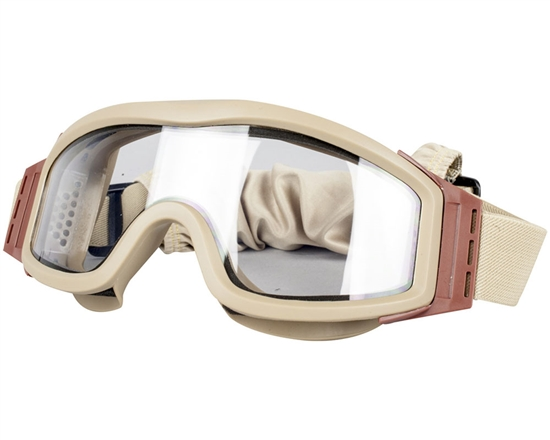 Valken Tactical V-Tac Tango Airsoft Goggles - Thermal Lens - Tan