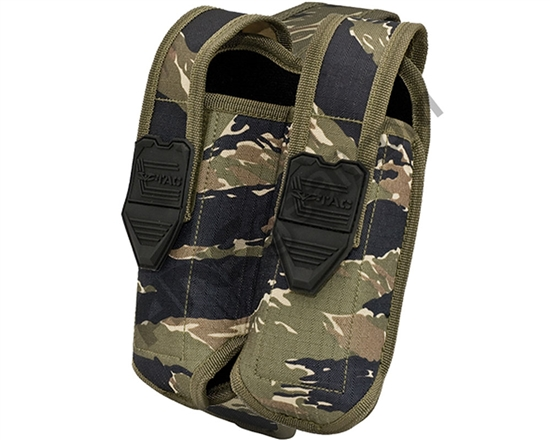 Valken Tactical Vest Accessory Pouch - Two Magazine Side By Side Pouch (Tiger Stripe)