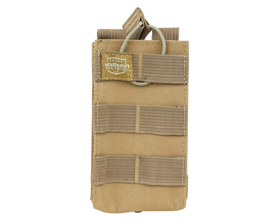 Valken Tactical Vest Accessory Pouch - One Magazine AR Pouch (Tan)