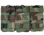 Valken Tactical Vest Accessory Pouch - Three Magazine AR Pouch (Woodland Camo)