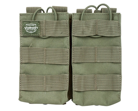 Valken Tactical Vest Accessory Pouch - Two Magazine AR Pouch (Green)