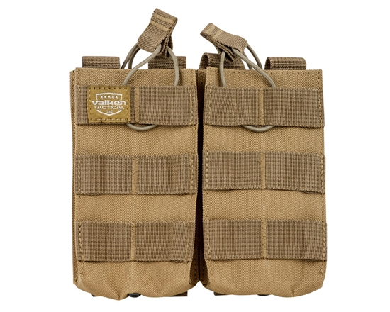 Valken Tactical Vest Accessory Pouch - Two Magazine AR Pouch (Tan)