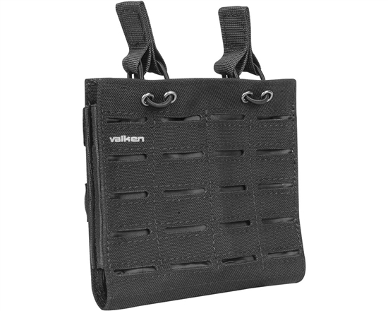 Valken Tactical Vest Accessory Pouch - Two Magazine Multi-Rifle Pouch LC (Black)