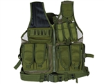 Defcon Gear Tactical 600 Denier Crossdraw Airsoft Vest - Olive Drab