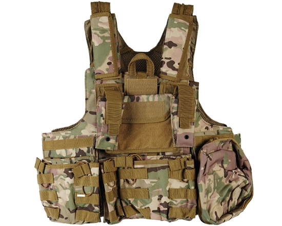 Defcon Gear Tactical 900 Denier Complete CFR Carrier Airsoft Vest - Multicam