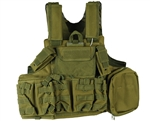 Defcon Gear Tactical 900 Denier Complete CFR Carrier Airsoft Vest - OD Green