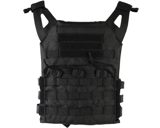 Defcon Gear Tactical Plate Carrier Airsoft Vest - Low Profile - Black