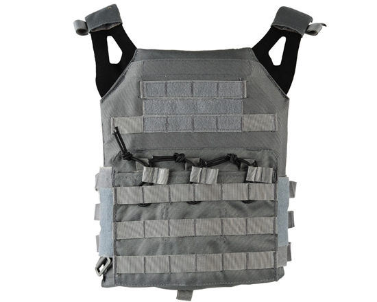 Defcon Gear Tactical Plate Carrier Airsoft Vest - Low Profile - Gray