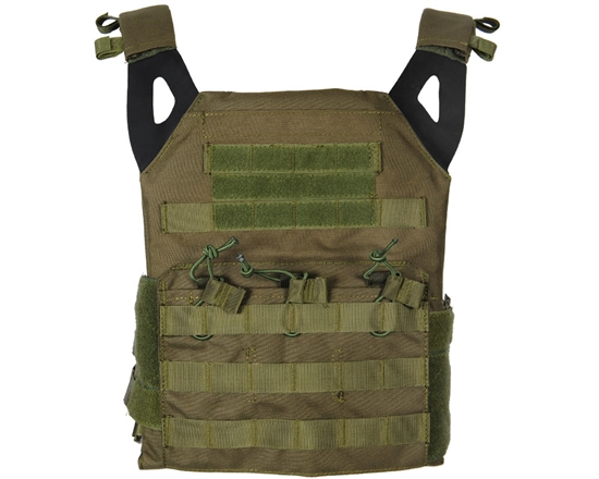 Defcon Gear Tactical Plate Carrier Airsoft Vest - Low Profile - Olive Drab