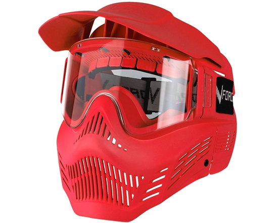 V-Force Tactical Armor Full Face Airsoft Mask - Red