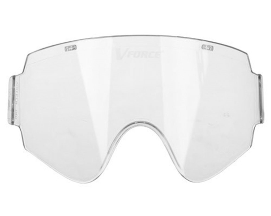 V-Force Single Pane Anti-Fog Ballistic Rated Lens For Armor Masks (Clear)