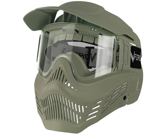 V-Force Tactical Armor Full Face Airsoft Mask - Olive