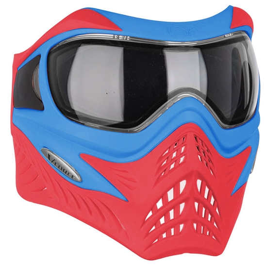 V-Force Tactical Grill Airsoft Mask - Blue/Red