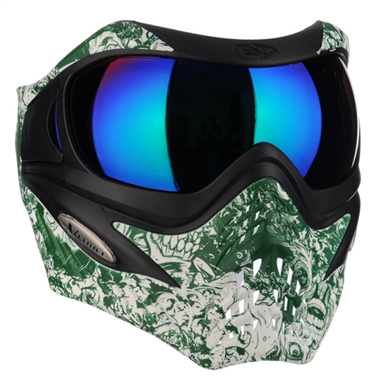 V-Force Tactical Grill Airsoft Mask - Zombie w/ Green Chrome Lens