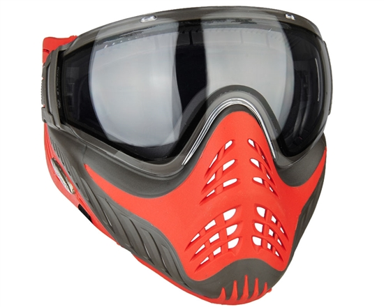 V-Force Tactical Profiler Airsoft Mask - Grey/Red (Scarlet)