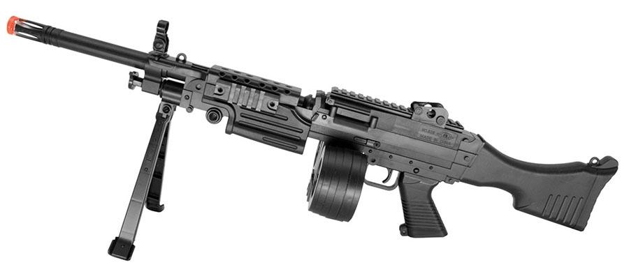 508b mini support machine gun spring action airsoft rifle w drum