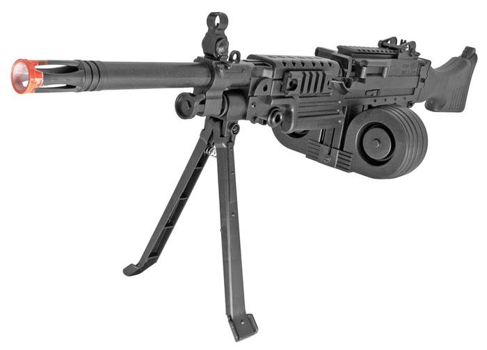 508b mini support machine gun spring action airsoft rifle w drum mag bipod. Black Bedroom Furniture Sets. Home Design Ideas