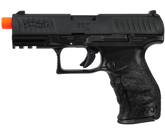 Walther PPQ Gas Airsoft Pistol Blowback Hand Gun - Black