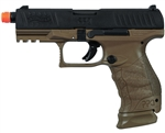 Walther PPQ Tactical Metal Slide Gas Blowback Airsoft Pistol By Umarex (Two-Tone Black/Tan)