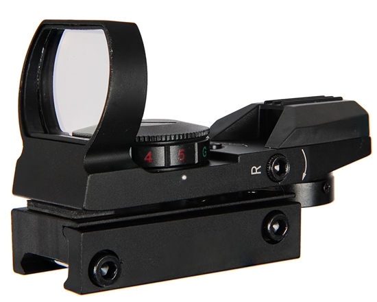 Warrior Airsoft Sight - Deluxe - Red/Green Dot w/ 4 Reticles