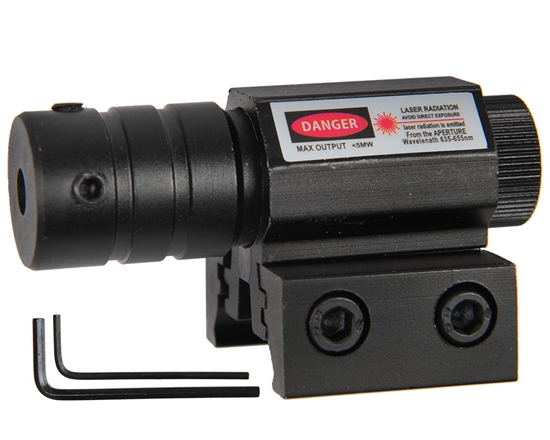 Warrior Airsoft Sight - Tactical Red Laser w/ Rail Mount