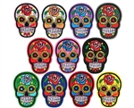 Warrior Airsoft Iron On Patch - Sugar Skull - 11-Pack