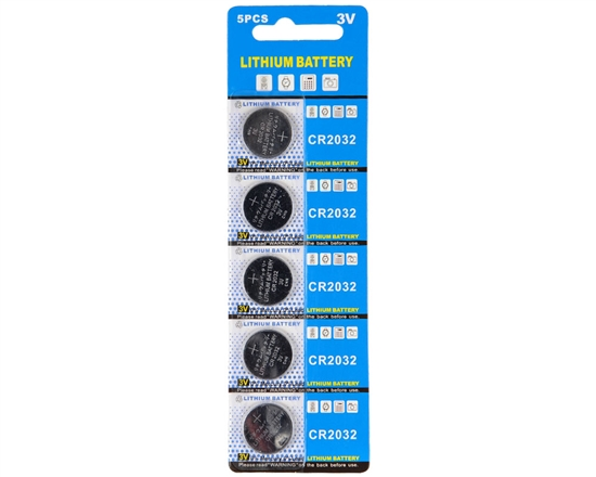 Warrior 3V Lithium CR2032 Battery - 5 Pack
