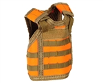 Warrior Bottle Coozie - Tactical Vest - Orange/Tan