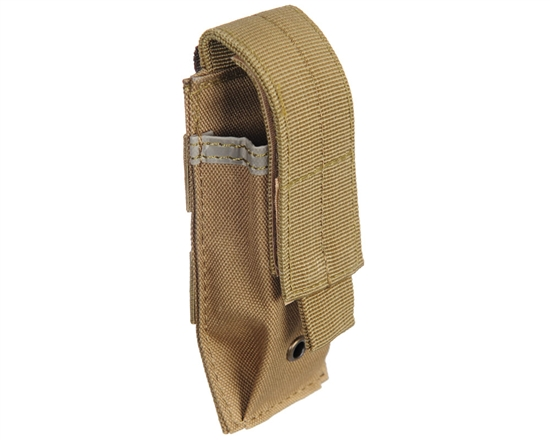 Warrior Tactical Vest Accessory Pouch - Single Magazine Molle - Tan