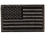 Warrior Airsoft Velcro Patch - US Flag - Black/Grey