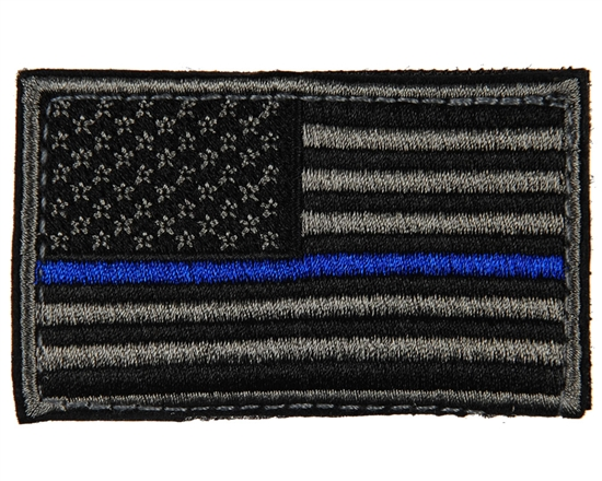 Warrior Airsoft Velcro Patch - US Flag - Black/Grey/Blue
