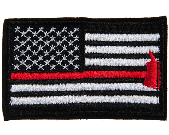 Warrior Airsoft Velcro Patch - US Flag - Black/White/Red