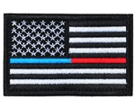 Warrior Airsoft Velcro Patch - US Flag - Blue & Red Line