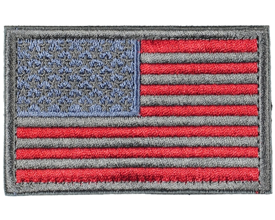 Warrior Airsoft Velcro Patch - US Flag - Grey/Red