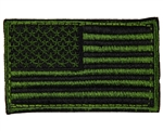 Warrior Airsoft Velcro Patch - US Flag - Green/Black