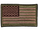 Warrior Airsoft Velcro Patch - US Flag - Olive/Tan/Brown