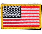 Warrior Airsoft Velcro Patch - US Flag - Red/White/Black