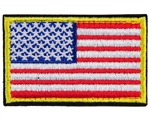Warrior Airsoft Velcro Patch - US Flag - Red/White/Blue