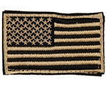 Warrior Airsoft Velcro Patch - US Flag - Tan/Black