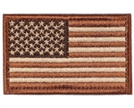 Warrior Airsoft Velcro Patch - US Flag - Tan/Brown
