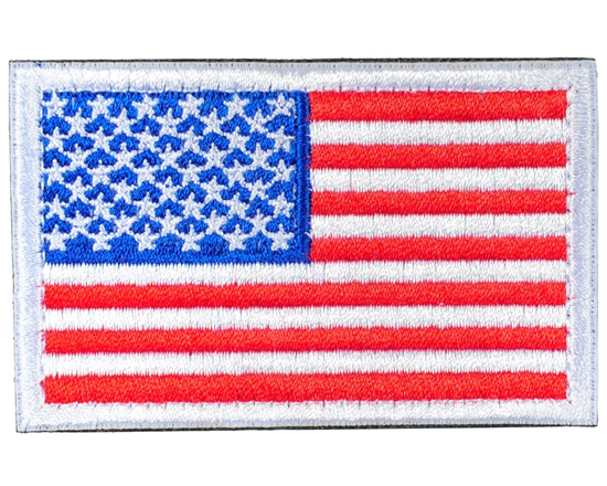 Warrior Airsoft Velcro Patch - US Flag - White/Red