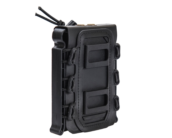 Warrior Tactical Vest Accessory Pouch - AR15 Single Magazine Molle Pull Down - Black