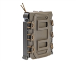 Warrior Tactical Vest Accessory Pouch - AR15 Single Magazine Molle Pull Down - Tan