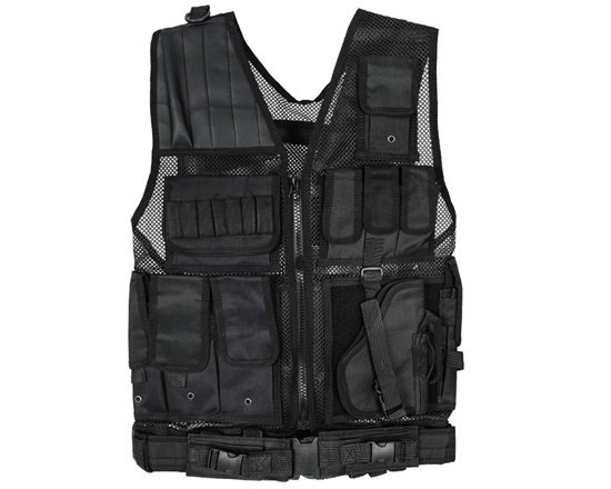 Warrior Tactical Vest - Crossdraw - Black