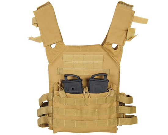 Warrior Tactical Plate Carrier Airsoft Vest - Low Profile - Coyote