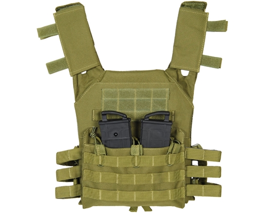 Warrior Tactical Plate Carrier Airsoft Vest - Low Profile - Olive Drab