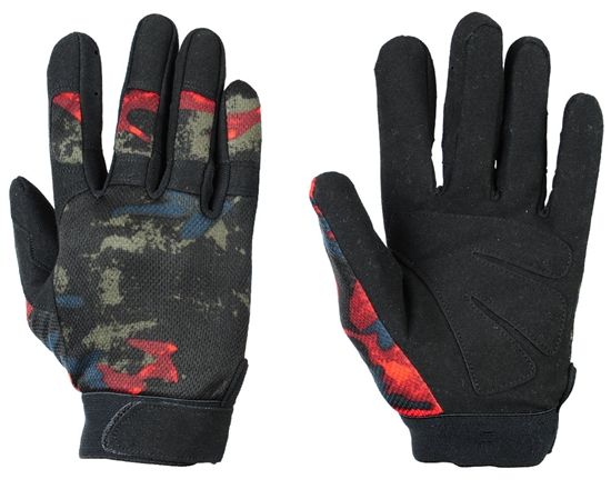 Warrior Airsoft Tournament Gloves - Acid Red